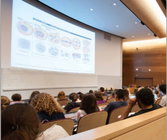 A classroom at The University of Connecticut's Storr's campus