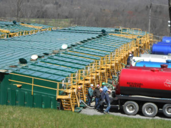 Fracking waste storage in Susquehanna, Pa.