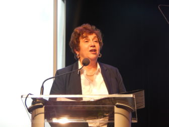 Democratic State Chairwoman Nancy DiNardo