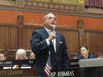 House MInority Leader Lawrence F. Cafero Jr. argues the new budget is filled with gimmicks.