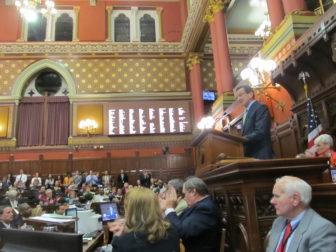 Gov. Dannel P. Malloy closes the 2014 session.