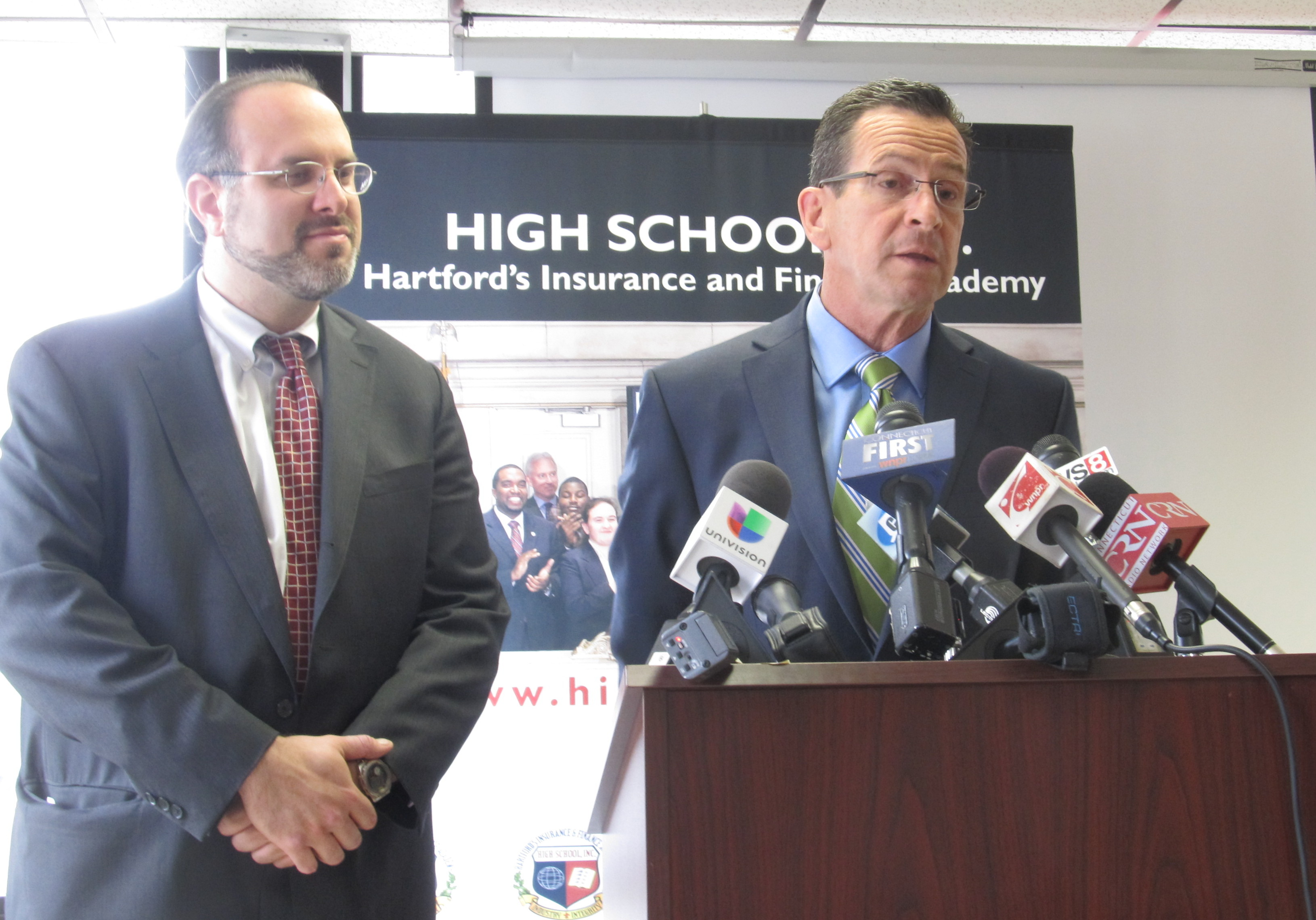 Improved graduation rates give Malloy a campaign talking point