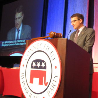 GOP state chairman Jerry Labriola Jr. opens the 2014 convention.