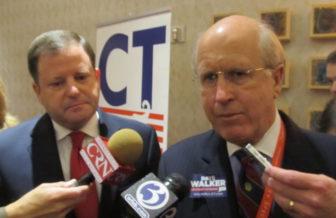 John P. McKinney and his running mate, David M. Walker. (file photo)