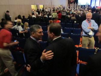 Len Fasano assures John McKinney he'll get 15 percent.