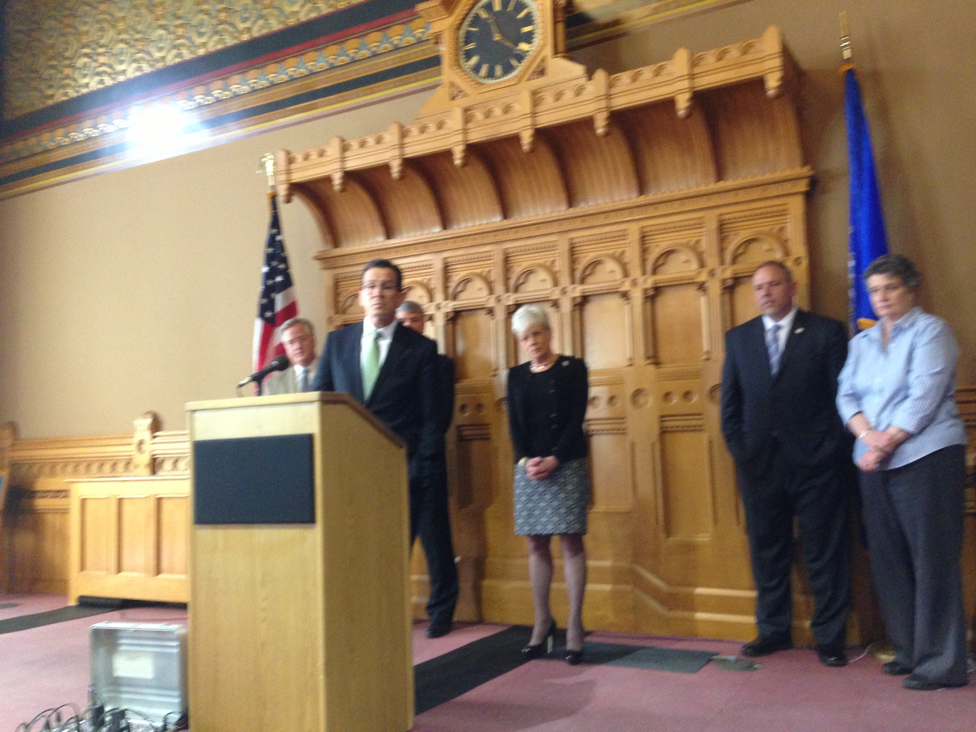The budget vote is Saturday, but Malloy's focus is November