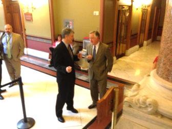 Sen. Donald E. Williams and Rep. J. Brendan Sharkey.