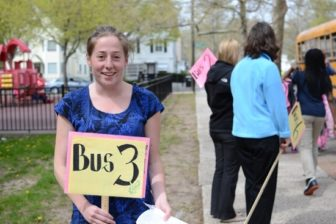 Teacher Julie Bergeron plans to reapply for her job and possibly earn a bonus.