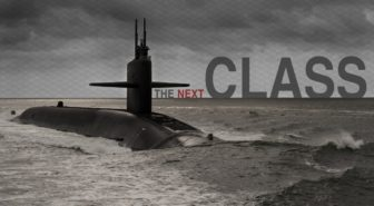 Drawing of new Ohio class submarine