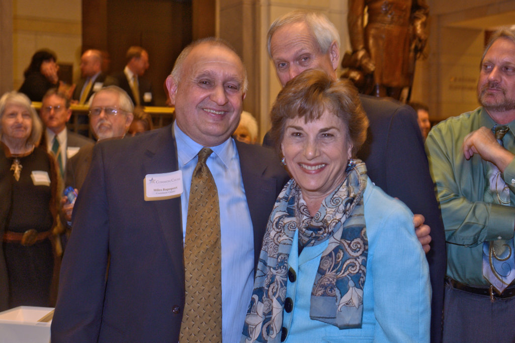 Rapoport with Illinois Rep. Jan Schakowsky and her husband, Robert Creamer