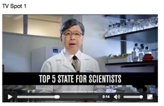 Dr. Edison Liu of Jackson Laboratory is featured in one of the two new ads.