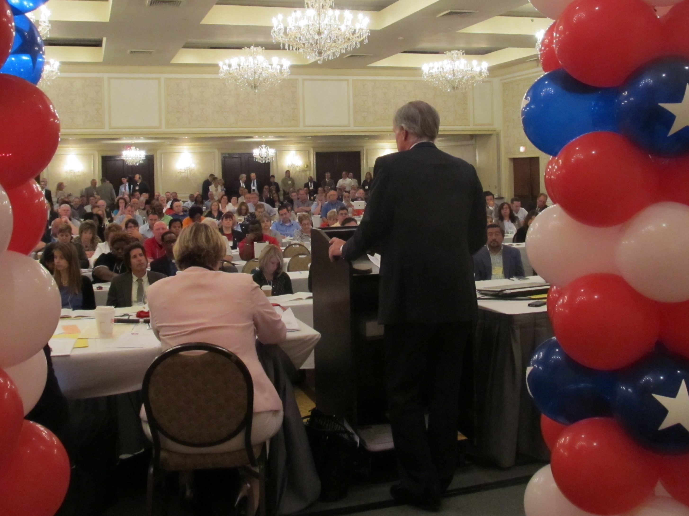 Tom Foley addressing the AFL-CIO in June.
