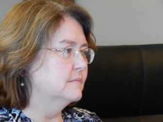 This is a picture of Carol Poehnert, part of the mothers' group.