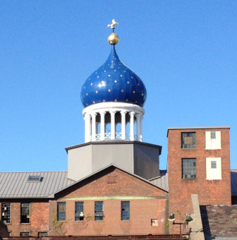 The blue onion dome at Coltsville. It is not, in fact, the original.
