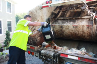 All American Waste picks up food waste at curbside as part of a pilot project in Bridgewater.