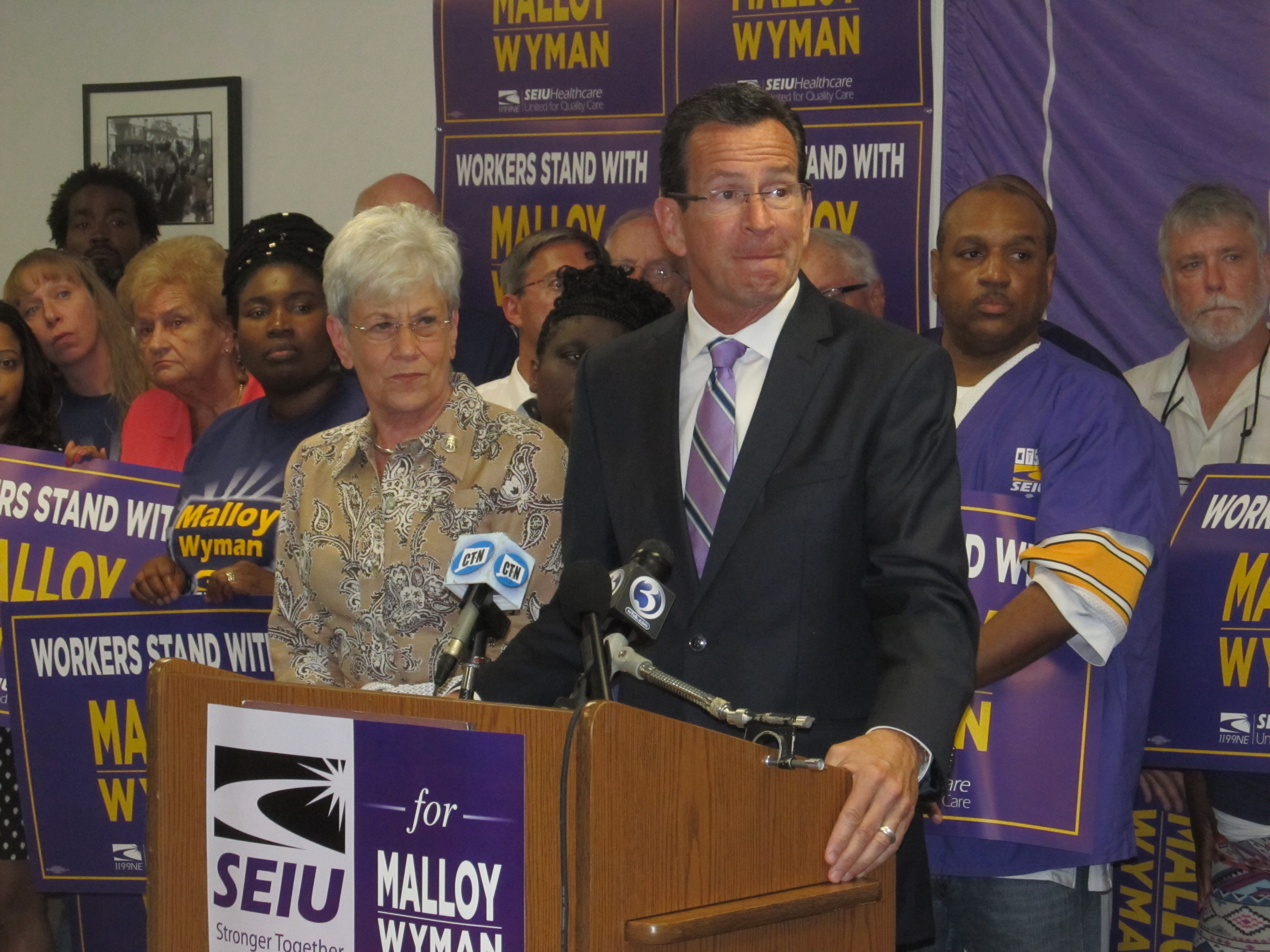 Malloy delivers for SEIU, and the union returns the favor