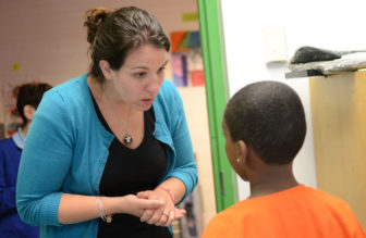 Teacher Melissa Rhone credits extra peer collaboration time with helping her grow from a struggling teacher to a mentor.