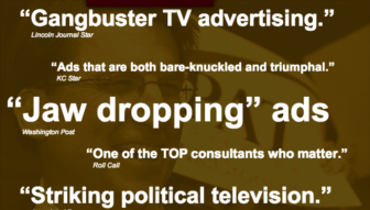 No place for the modest: A political ad man's web site.