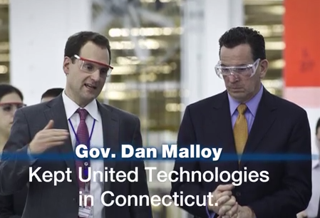 A Malloy ad by Obama's team that echoes Reagan