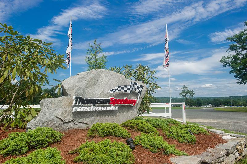 The entrance to Thompson Speedway Motorsports Park