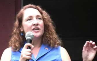 U.S. Rep. Elizabeth Esty, D-5th District, speaking to supporters.