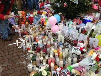 Memorial to the children slain at Newtown.