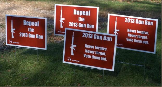 Repeal gun ban lawn signs