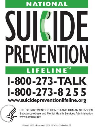 National Suicide Prevention Lifeline Magnet, SVP05-0126