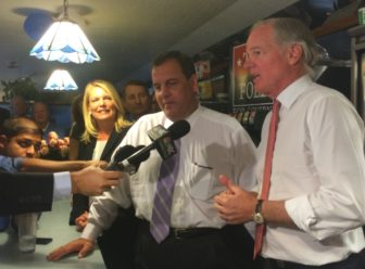 Chris Christie with Tom Foley and Foley's running mate, Heather Bond Somers.