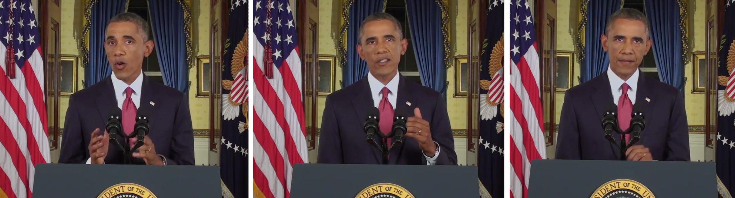 Obama ISIL triptich