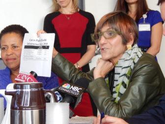 U.S. Rep. Rosa DeLauro decries cuts to federal public health funding.
