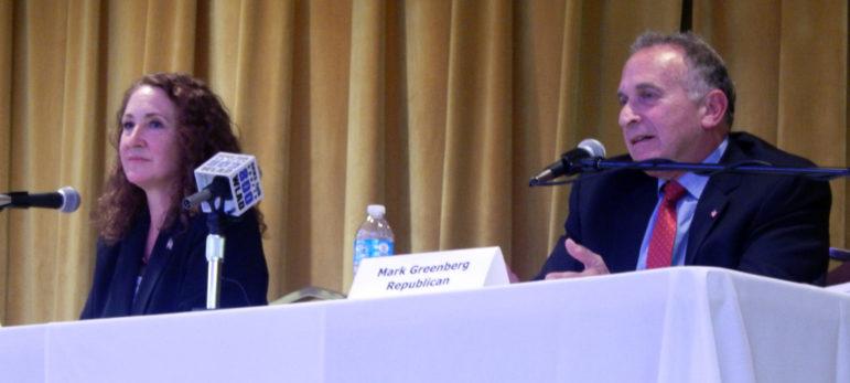 U.S. Rep. Elizabeth Esty and Republican challenger Mark Greenberg.