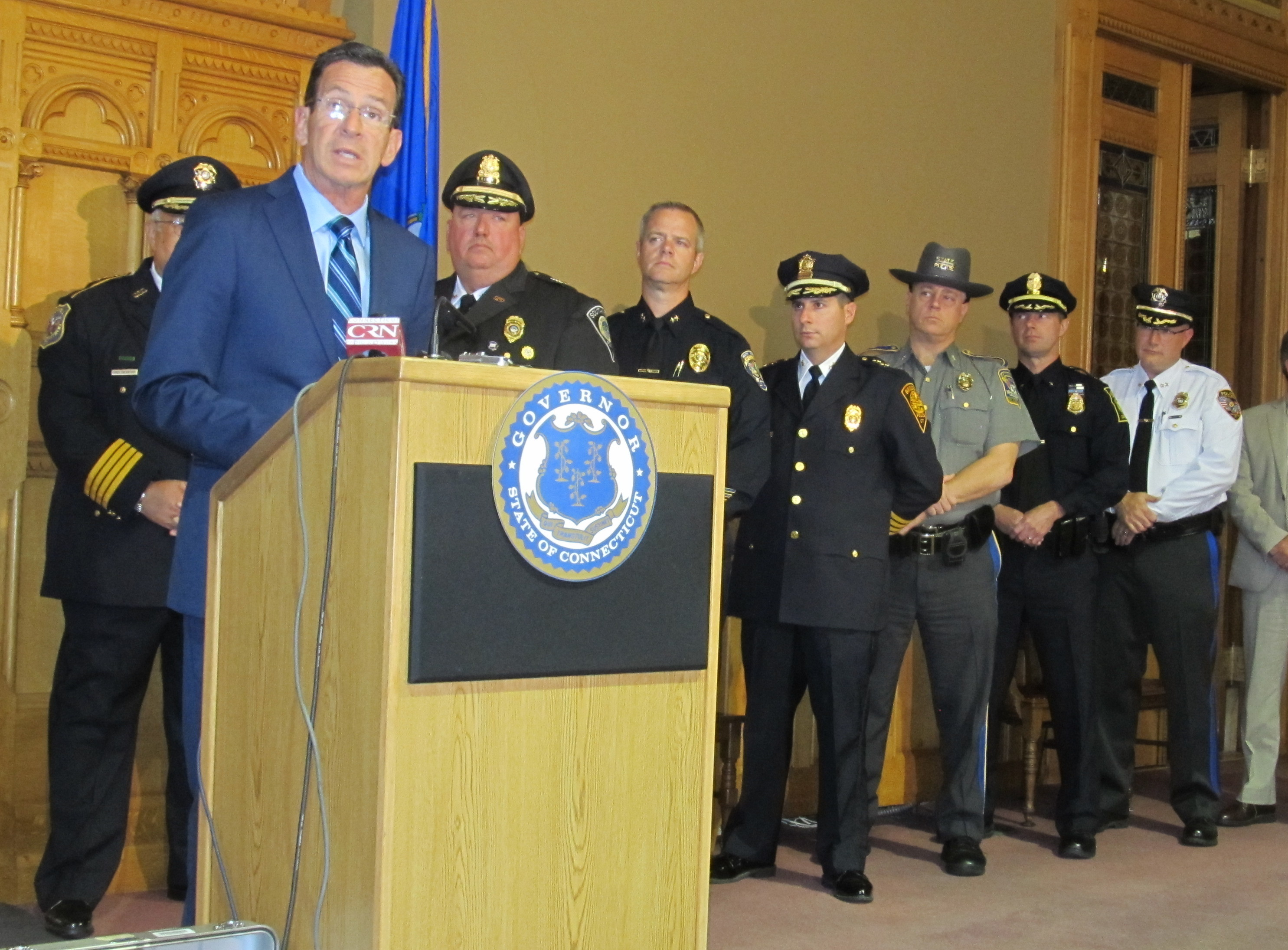 Malloy highlights sharp crime drop in Connecticut