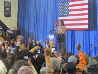 Michelle Obama drew a capacity crowd of 1,600.
