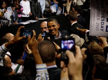 President Obama in Bridgeport in 2010.