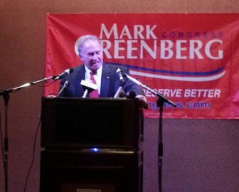 Republican challenger Mark Greenberg concedes the 5th Congressional District race to U.S. Rep. Elizabeth Esty.