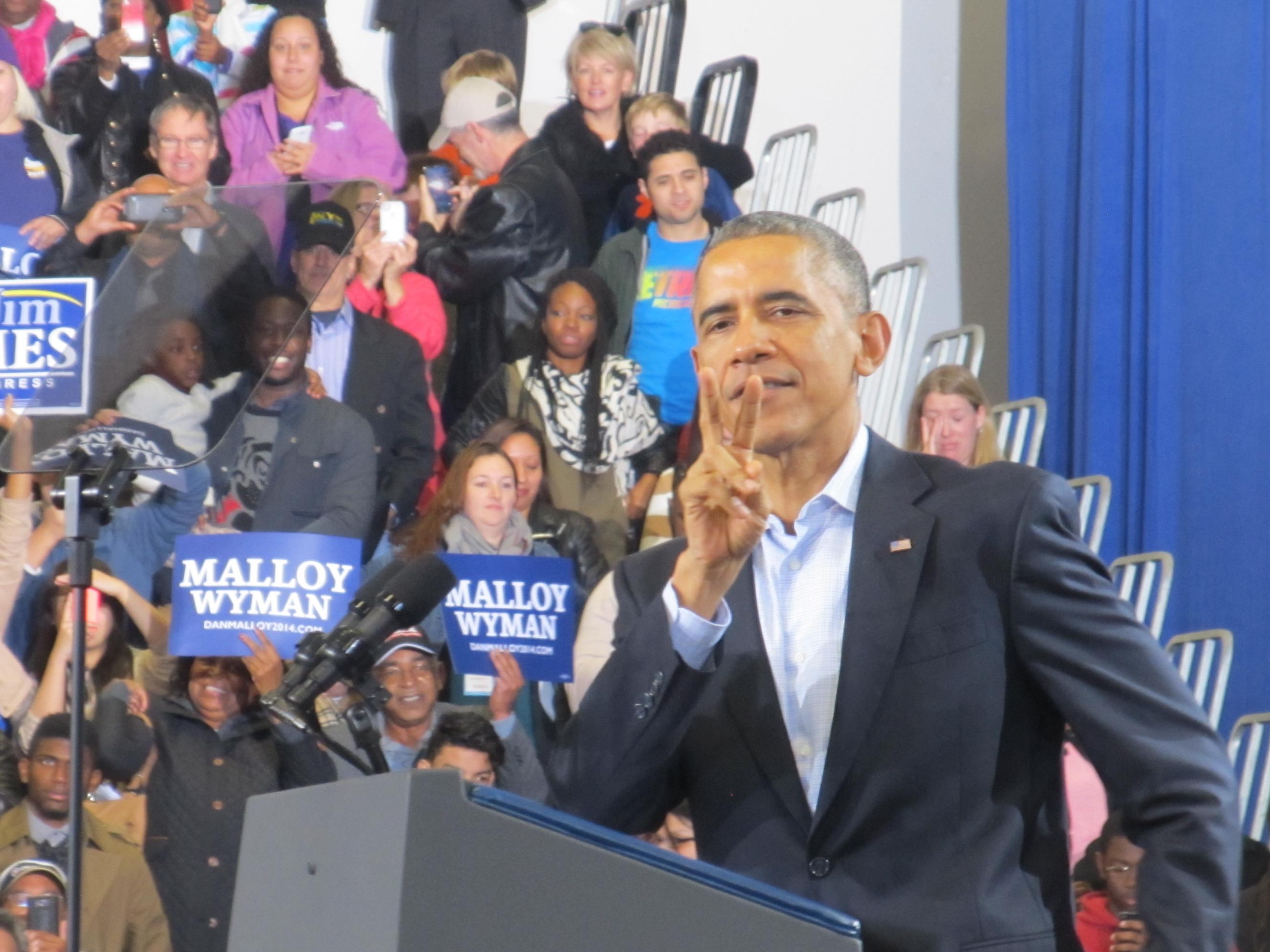 Two days 'til election, says President Obama.