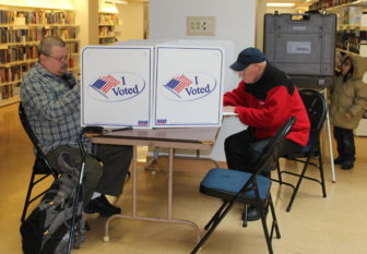 Casting ballots Tuesday morning at Hartford Public Library