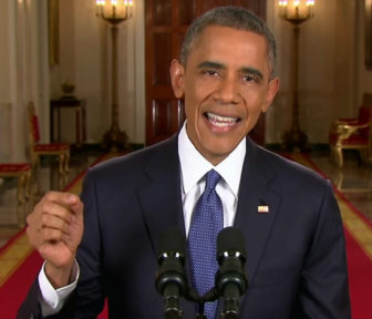 President Obama announcing his immigration actions in November.