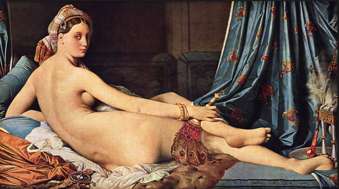 Odalisque, by the painter Jean-Auguste Ingres.