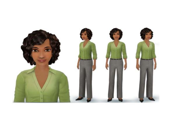 This is a picture of Tina, the avatar that will show up on Access Health CT's website to help shoppers.