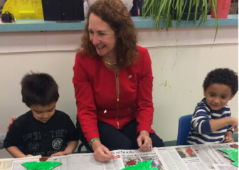 Rep. Elizabeth Esty spent some time earlier this month  with children at a Torrington Child Care Center, later announcing a federal grant she said  will expand access to high-quality, affordable preschool.