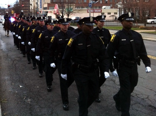 Graduates of a Hartford Police Department Academy class in 2012.