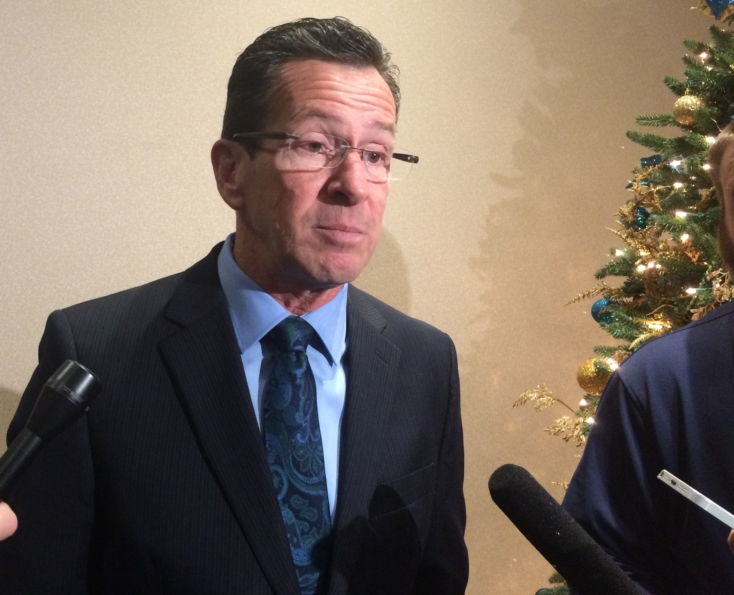Free of campaign, Malloy tries a new narrative