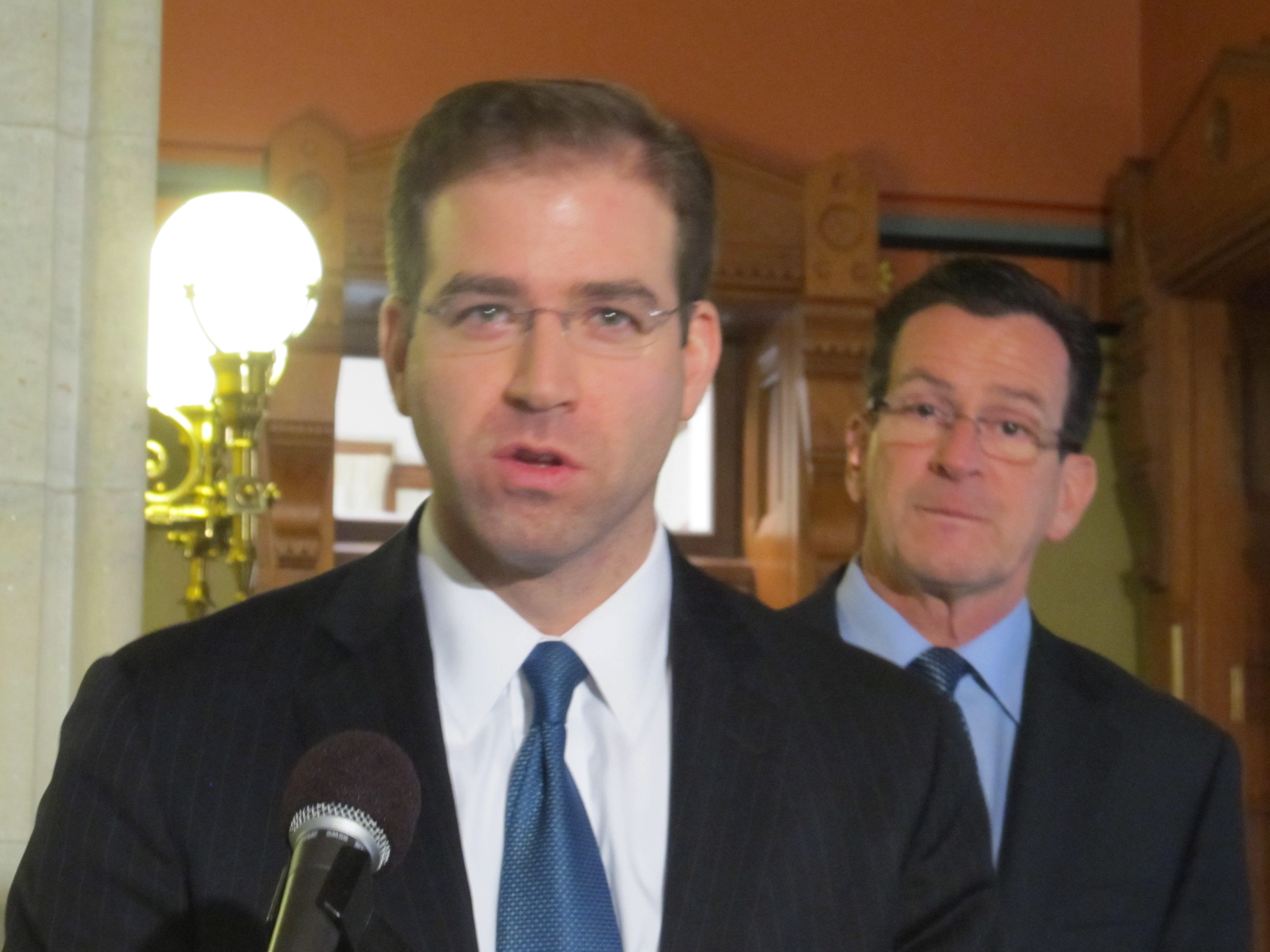 Luke Bronin with Gov. Dannel P. Malloy in January 2013.