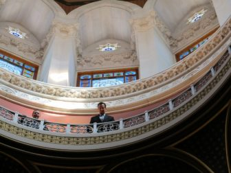 The dome is not on the tour, but Gov. Dannel P. Malloy managed to get access his first year.