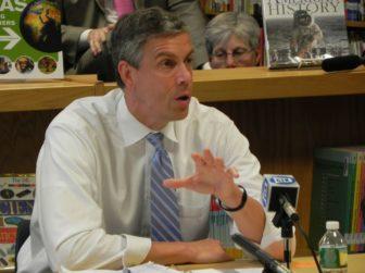 U.S. Education Secretary Arne Duncan in New Haven in 2012