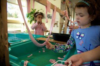 Kindergarten students at University of Hartford Magnet School.