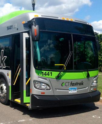 A CTfastrak bus.