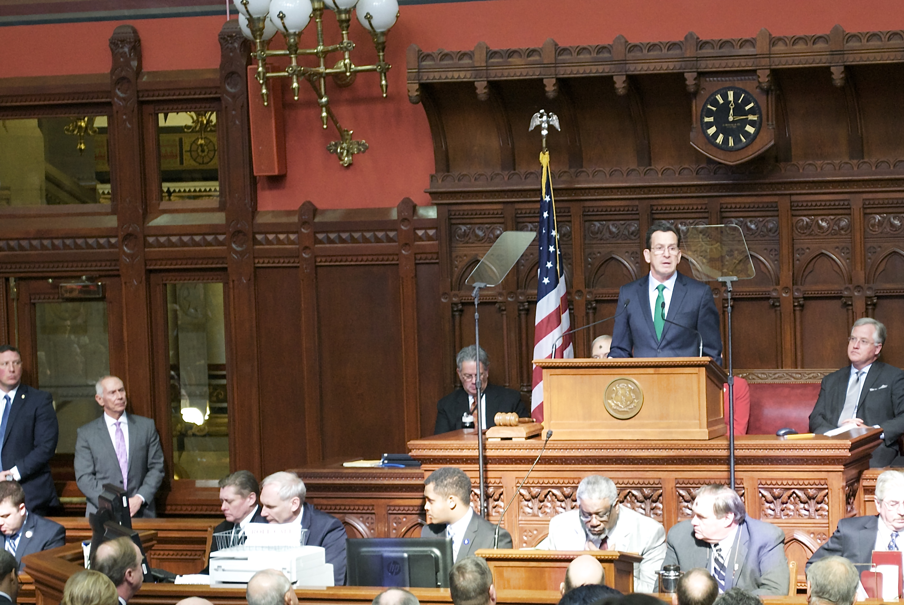 Malloy would tax business, cut services to balance budget